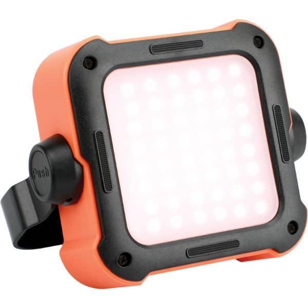 Proiector LED portabil PROMATE TrekMate-1, IP54, PowerBank 10000 mAh, portocaliu-negru