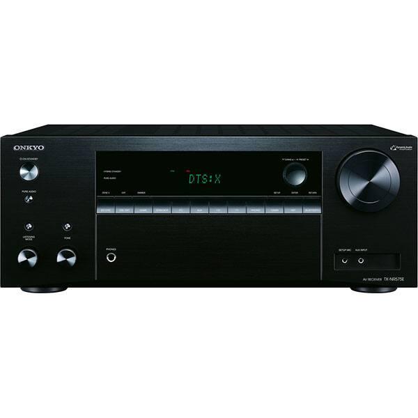 Receiver AV ONKYO TX-NR575E-B, Bluetooth, Wi-Fi, negru
