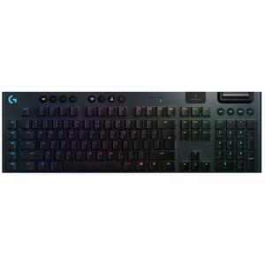 Tastatura Gaming mecanica LOGITECH G915 Clicky Switch, Wireless, Layout INT, negru