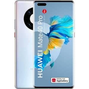 Telefon HUAWEI Mate 40 Pro 5G, 256GB, 8GB RAM, Dual SIM, Mystic Silver