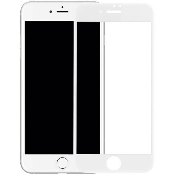 Folie Tempered Glass pentru iPhone 8 Plus, SMART PROTECTION, fulldisplay, alb