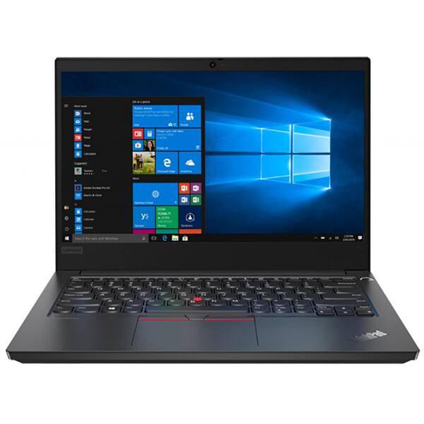 "Laptop LENOVO ThinkPad E14, Intel Core i7-10510U pana la 4.9GHz, 14"" Full HD, 16GB, SSD 512GB, Intel UHD Graphics, Windows 10 Pro, negru"