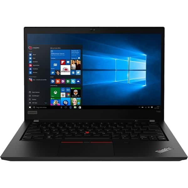 "Laptop LENOVO ThinkPad T490, Intel Core i7-8565U pana la 4.6GHz, 14"" Full HD, 8GB, SSD 256GB, Intel UHD Graphics, Windows 10 Pro, negru"