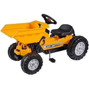 Tractor cu pedale si remorca BIG Jim Dumper, 2 ani+, portocaliu