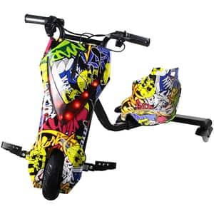 Tricicleta electrica MYRIA Drifter Sky Rider MY7039GF, 8inch, graffiti