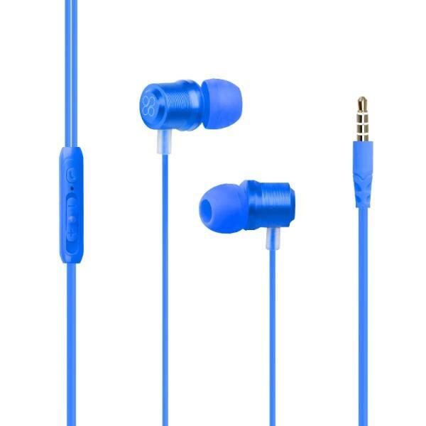 Casti PROMATE Travi, Cu Fir, In-ear, Microfon, albastru