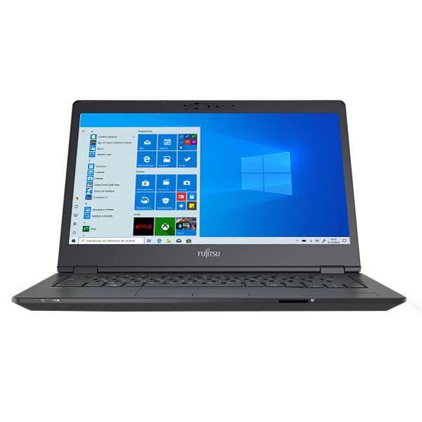 """Laptop FUJITSU LifeBook U7410, Intel Core i7-10510U pana la 4.9GHz, 14"""" Full HD, 16GB, SSD 512GB, Intel UHD Graphics, Windows 10 Pro, negru"""