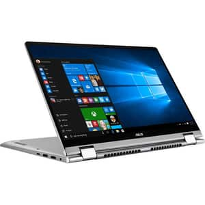 "Laptop 2 in 1 ASUS ZenBook Flip 14 UM462DA-AI084T, AMD Quad Core R7-3700U pana la 4GHz, 14"" Full HD Touch, 8GB, SSD 512GB, AMD Radeon RX Vega 10, Windows 10 Home, gri"
