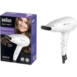 Uscator de par BRAUN Satin Hair 3 PowerPerfection HD380, 2000W, 2 viteze, 3 trepte temperatura, alb