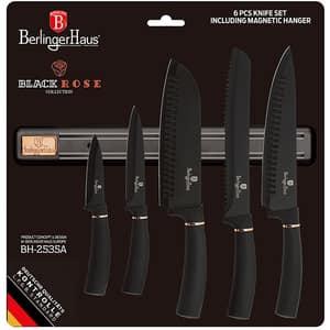 Set cutite BERLINGER HAUS BH/2535A, 6 piese, otel, 9-20cm, negru