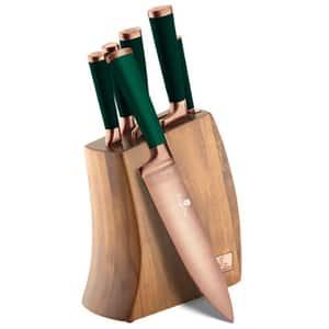 Set cutite BERLINGER HAUS Emerald BH/2645, 7 piese, 9-20cm, verde