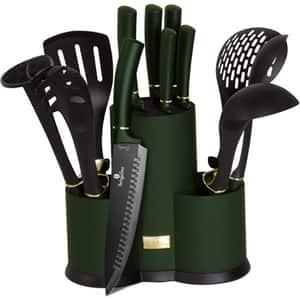 Set ustensile bucatarie BERLINGER HAUS Emerald BH/6250, 12 piese, verde