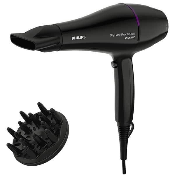 Uscator de par PHILIPS DryCare Pro BHD274/00, 2200W, 6 viteze, 6 trepte temperatura, negru