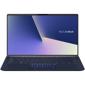 "Laptop ASUS ZenBook 14 UX433FA-A5082, Intel Core i7-8565U pana la 4.6GHz, 14"" Full HD, 16GB, SSD 512GB, Intel UHD Graphics 620, Free Dos, Royal Blue Metal"