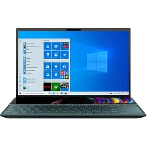 "Laptop ASUS ZenBook Duo UX481FL-HJ085R, Intel Core i5-10210U pana la 4.2GHz, 14"" Full HD, 8GB, SSD 512GB, NVIDIA GeForce MX250 2GB, Windows 10 Pro, Celestial Blue"