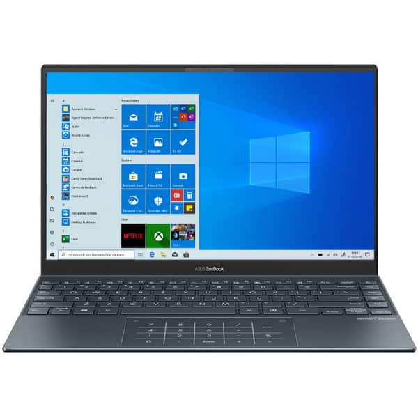 "Laptop ASUS Zenbook 13 UX325JA-EG037T, Intel Core i7-1065G7 pana la 3.9GHz, 13.3"" Full HD, 16GB, SSD 512GB, Intel Iris Plus Graphics, Windows 10 Home, gri"