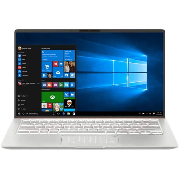 "Laptop ASUS ZenBook 14 UX433FA(NEW)-A5241T, Intel Core i5-8265U pana la 3.9GHz, 14"" Full HD, 8GB, SSD 512GB, Intel UHD Graphics 620, Windows 10 Home, Icicle Silver"