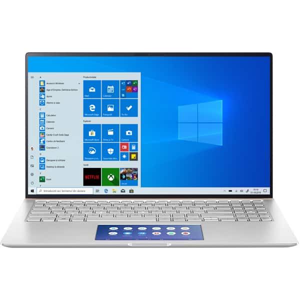 "Laptop ASUS ZenBook 15 UX534FTC-A8096T, Intel Core i5-10210U pana la 4.2GHz, 15.6"" Full HD, 8GB, SSD 512GB, NVIDIA GeForce GTX 1650 Max-Q 4GB, Windows 10 Home, Icicle Silver"