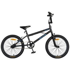 "Bicicleta BMX VELORS V2016A, 20"", cadru otel, negru-albastru"