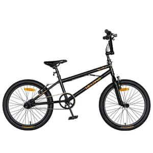 "Bicicleta BMX VELORS V2016A, 20"", cadru otel, negru-portocaliu"