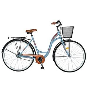 "Bicicleta City VELORS V2894B, 28"", cadru otel, albastru-visiniu"
