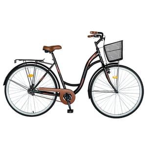 "Bicicleta City VELORS V2894B, 28"", cadru otel, negru-visiniu"