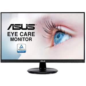 "Monitor LED IPS ASUS Eye Care VA24DQ, 23.8"", Full HD, 75Hz, FreeSync, negru"