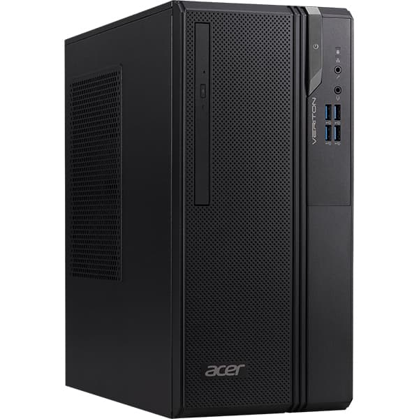 Sistem Desktop ACER Veriton Essential S ES2735G, Intel Core i3-9100 pana la 4.2GHz, 8GB, SSD 512GB + HDD 1TB, Intel UHD Graphics 630, Free Dos