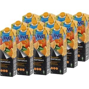 Bautura racoritoare necarbogazoasa VIVA Orange Fresh bax 1L x 12 sticle