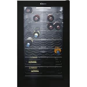 Racitor de vinuri CANDY CWC 150EM/N, 41 sticle, H 85 cm, Clasa G, negru