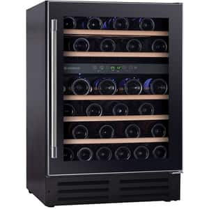 Racitor de vinuri incorporabil HOOVER HWCB 60, 46 sticle, negru