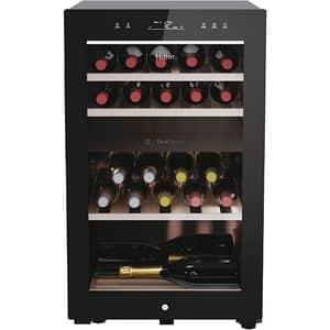 Racitor de vinuri HAIER HWS42GDAU1, 42 sticle, H 82 cm, Clasa G, Wi-Fi, negru