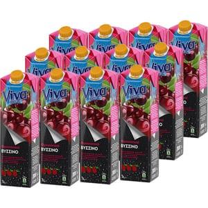 Bautura racoritoare necarbogazoasa VIVA Sour Cherry Fresh bax 1L x 12 sticle