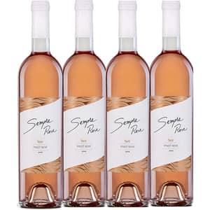 Vin rose sec Vincon Sempre Pinot Noir Rose, 0.75L, 4 sticle