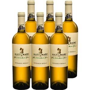 Vin alb sec Maximarc Feteasca Regala, 0.75L, 6 sticle