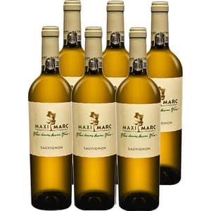 Vin alb sec Maximarc Sauvignon Blanc, 0.75L, 6 sticle