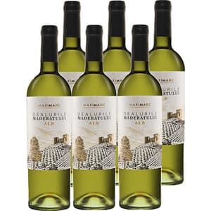 Vin alb sec Dealurile Maderatului alb, 0.75L, 6 sticle