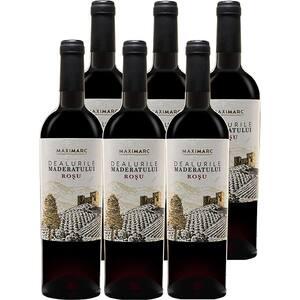 Vin rosu sec Dealurile Maderatului rosu, 0.75L, 6 sticle