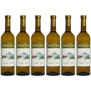 Vin alb sec Crama Mihai Sava Traminer, 0.75l, 6 sticle