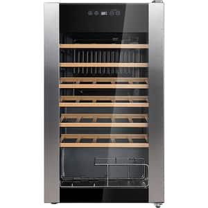 Racitor de vinuri VORTEX VO1022, 34 sticle, H 84.2 cm, Clasa G, negru