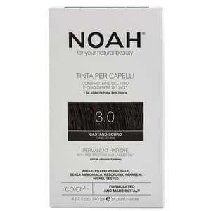 Vopsea de par naturala fara amoniac NOAH, 3.0 Saten inchis, 140ml