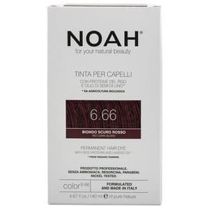 Vopsea de par NOAH, 6.66 Blond roscat inchis, 140ml