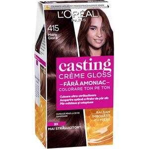 Vopsea de par L'OREAL Paris Casting Creme Gloss, 415 Maron Glac, 180ml