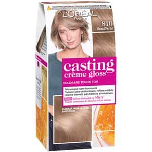 Vopsea de par L'OREAL Paris Casting Creme Gloss, 810 Blond Perlat, 180ml