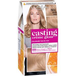 Vopsea de par L'OREAL Paris Casting Creme Gloss, 801 Blond Satin, 180ml