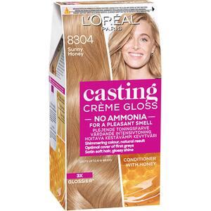 Vopsea de par L'OREAL Paris Casting Creme Gloss, 8304 Blond miere, 180ml