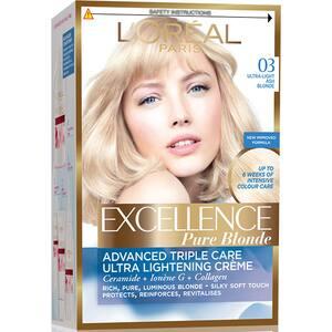 Vopsea de par L'OREAL Paris Excellence, 03 Blond Ultra Deschis Cenusiu, 182ml