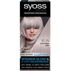 Vopsea de par SYOSS Cool Blonds, 10-55 Ultraplatinum Blond, 115ml