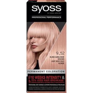 Vopsea de par SYOSS Color Baseline, 9-52 Blond Auriu Rose Deschis, 115ml