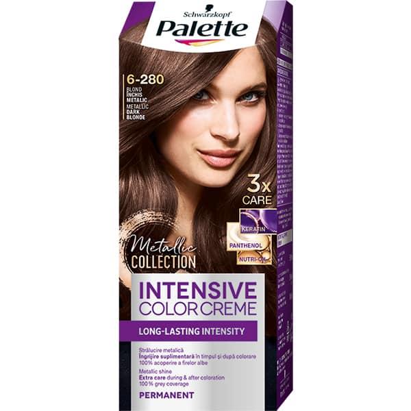 Vopsea de par PALETTE Intensive Color Cream, 6-280 Metalic Clasic Blonde, 110ml